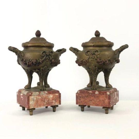 Старинные шпиатровые вазы