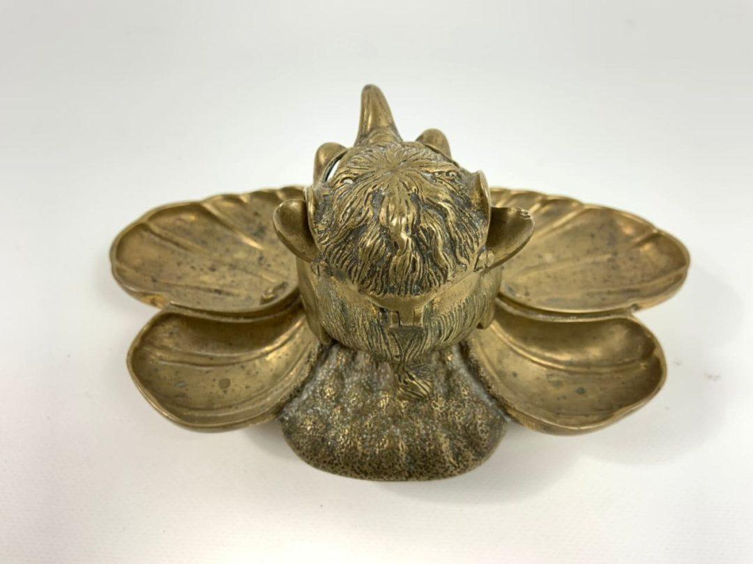 Антикварная чернильница из бронзы