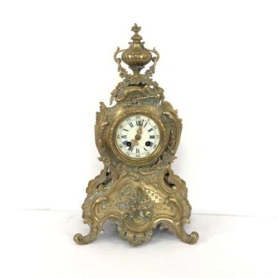 Антикварные бронзовые часы в стиле Рококо
