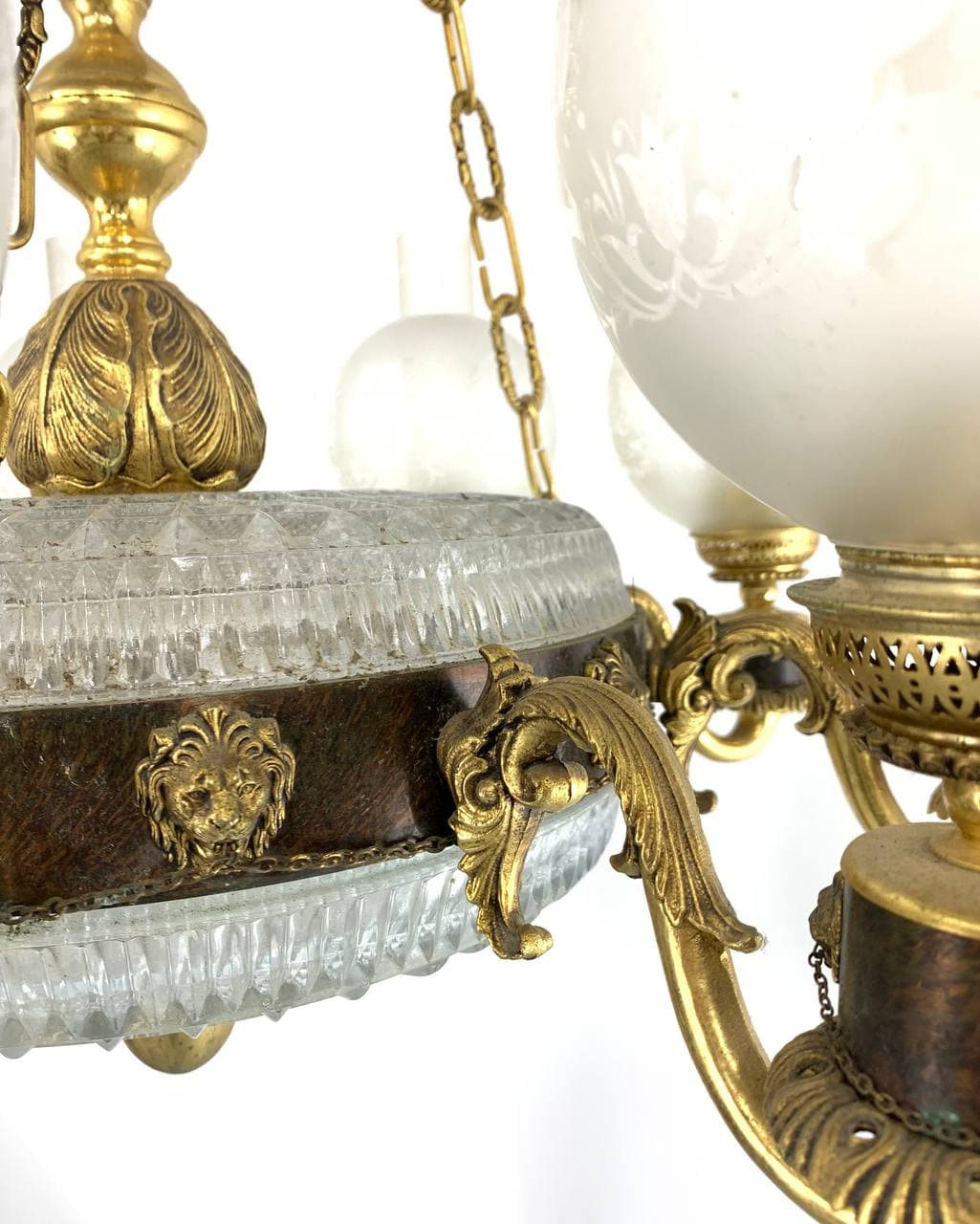 Винтажная люстра из бронзы