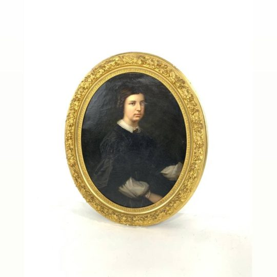 Антикварный портрет 19-го века