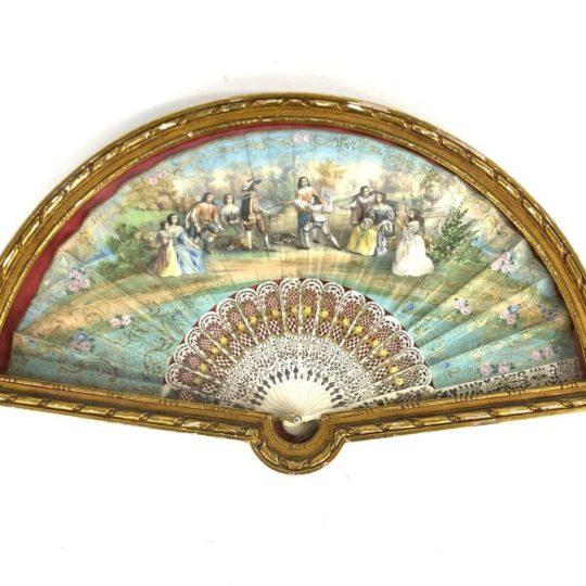 Антикварный веер начала 20-го века