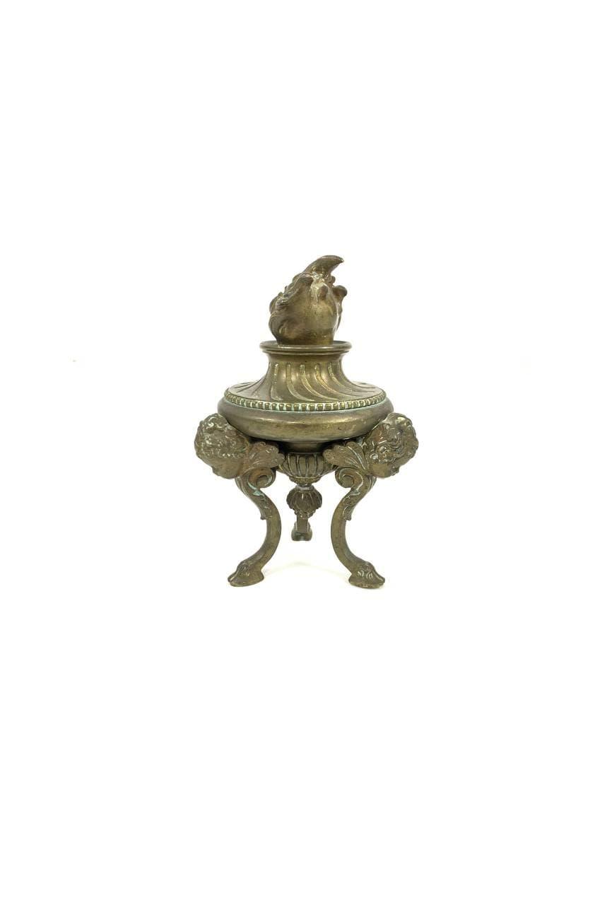 Антикварная бронзовая фигура
