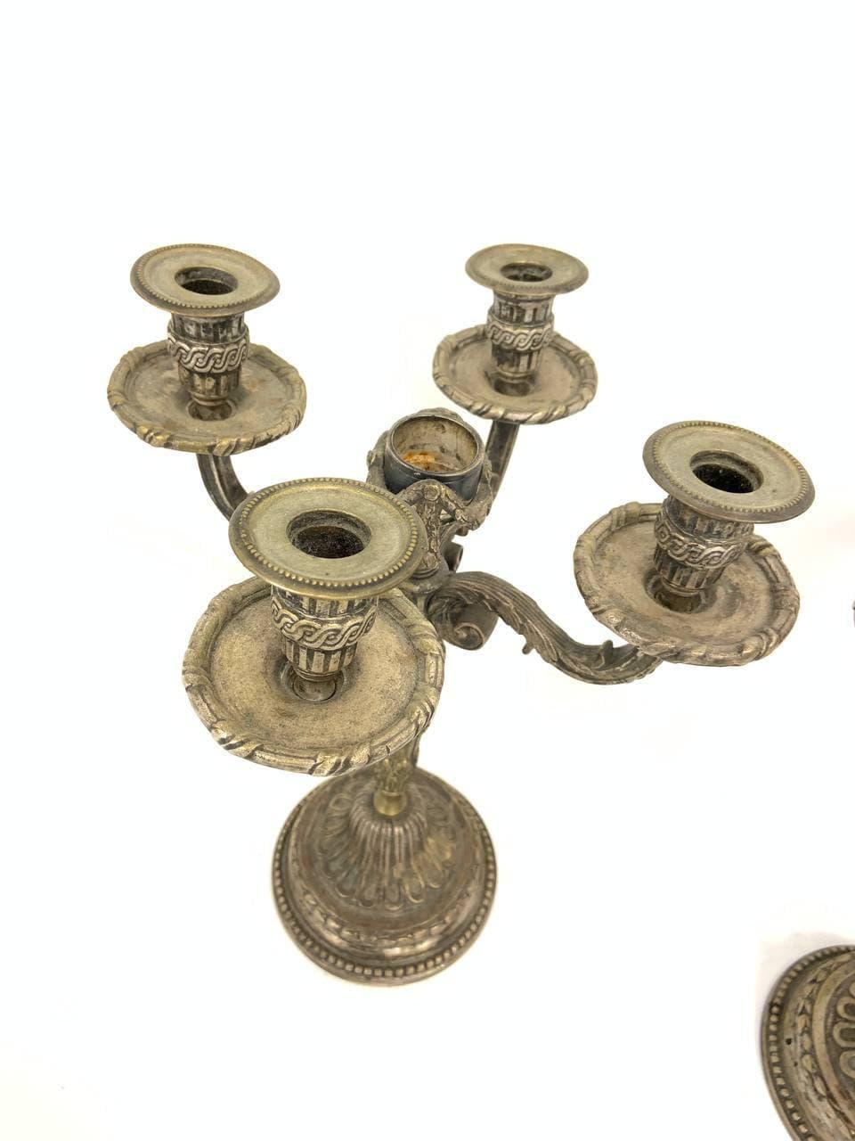 Антикварные бронзовые подсвечники