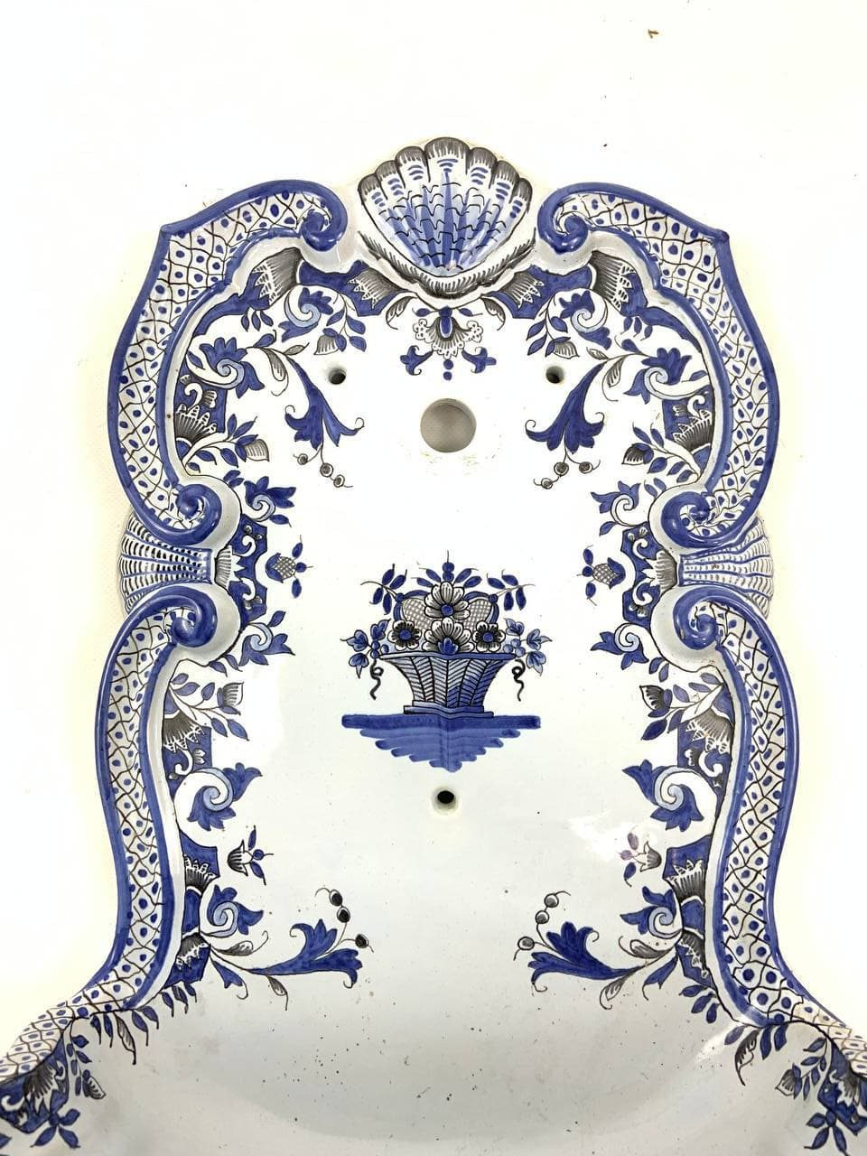 Антикварный настенный умывальник ручной росписи