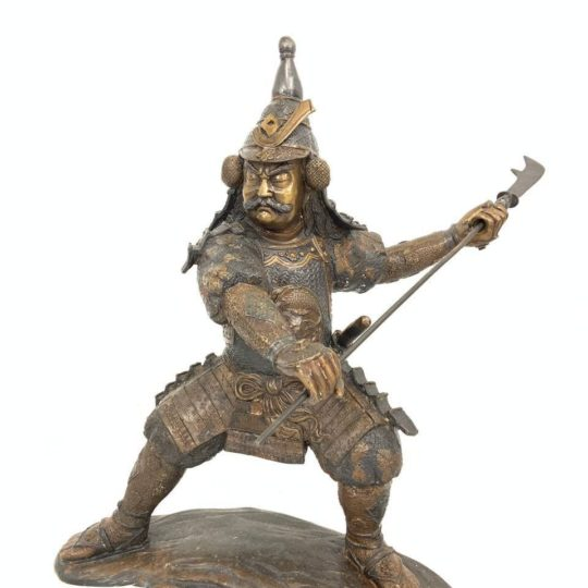 Антикварные самураи из бронзы