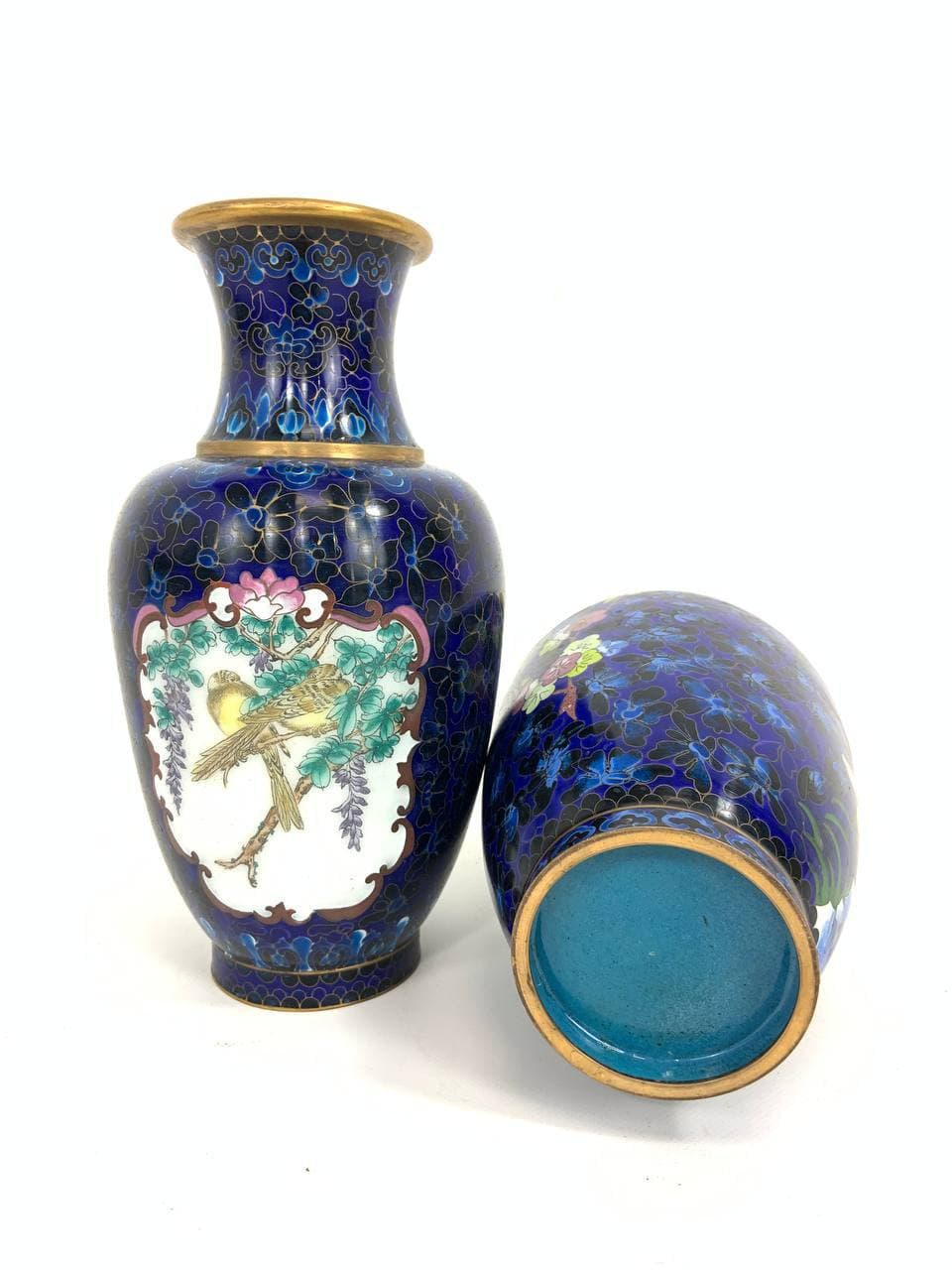 Антикварные вазы клуазоне
