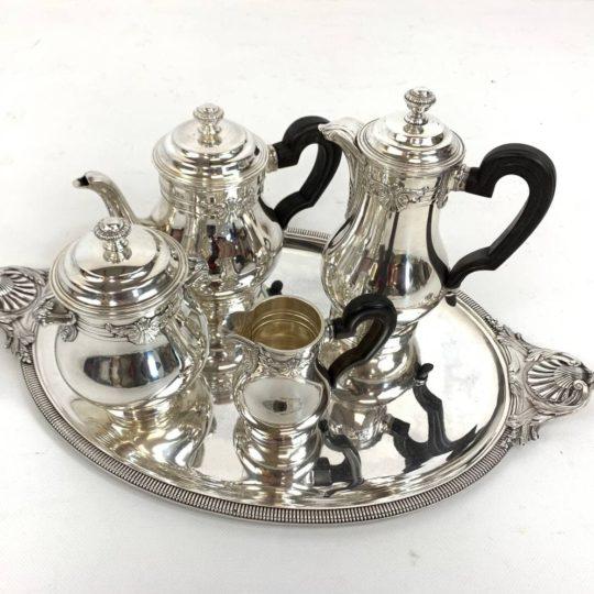 Антикварный чайный сервиз с подносом ювелирной фирмы BOULANGER