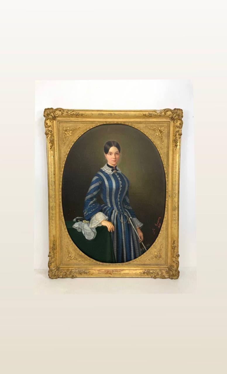 Антикварная живопись - портрет