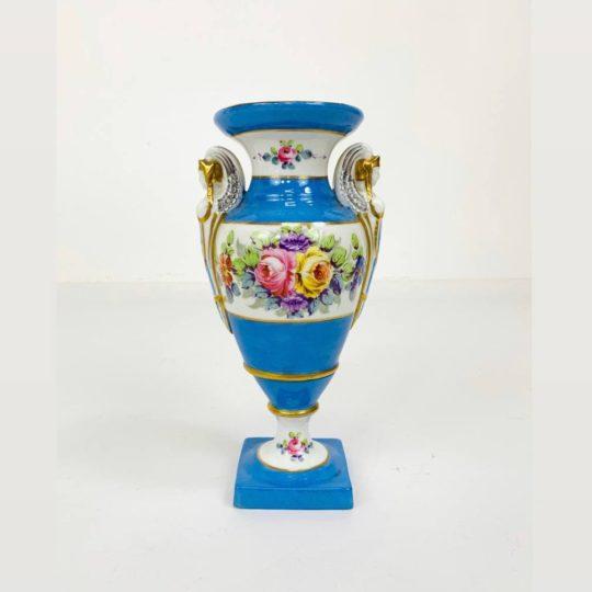 Антикварная фарфоровая ваза ручной росписи мануфактуры  Vieux Paris