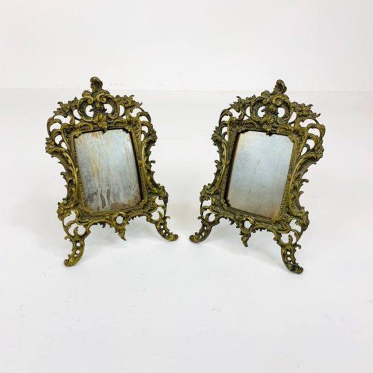 Антикварная пара рамок из бронзы в стиле Рококо