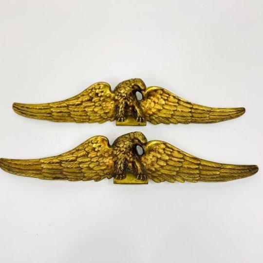 Антикварные накладки из золоченой бронзы
