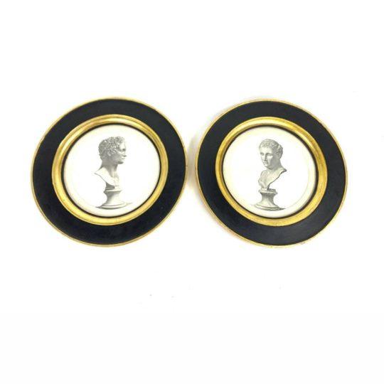 Антикварные гравюры Наполеона и Жозефины в рамах