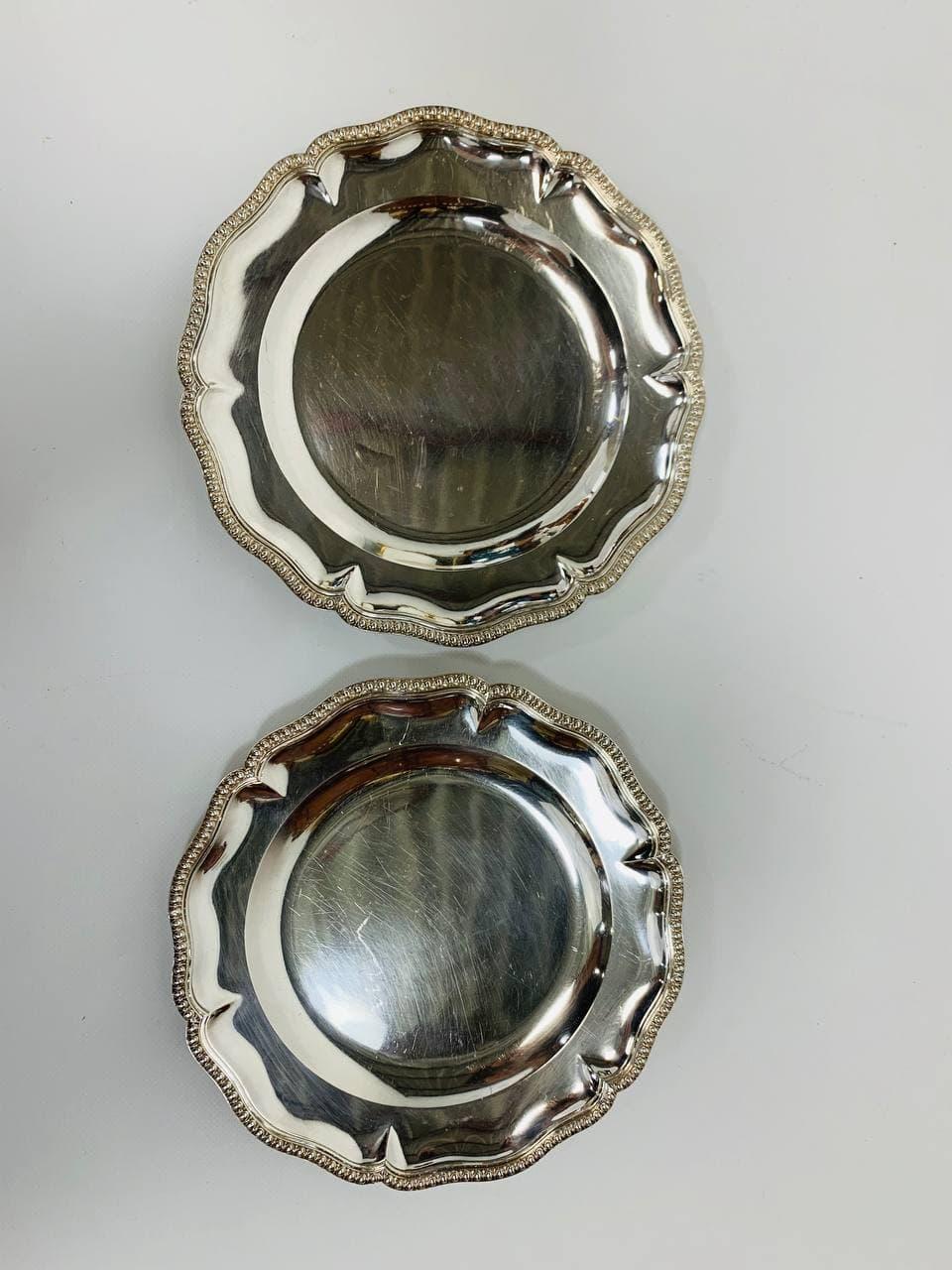 Антикварные серебряные блюда
