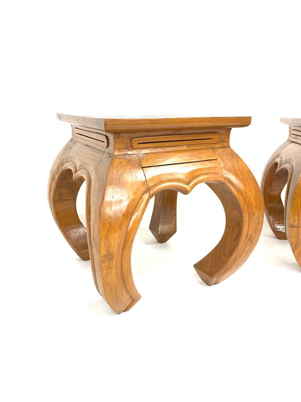 Винтажные прикроватные тумбочки в восточном стиле