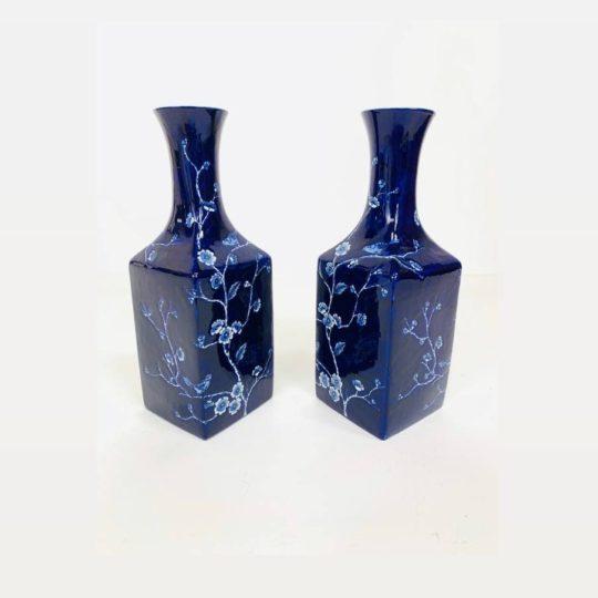 Винтажная пара ваз в восточном стиле