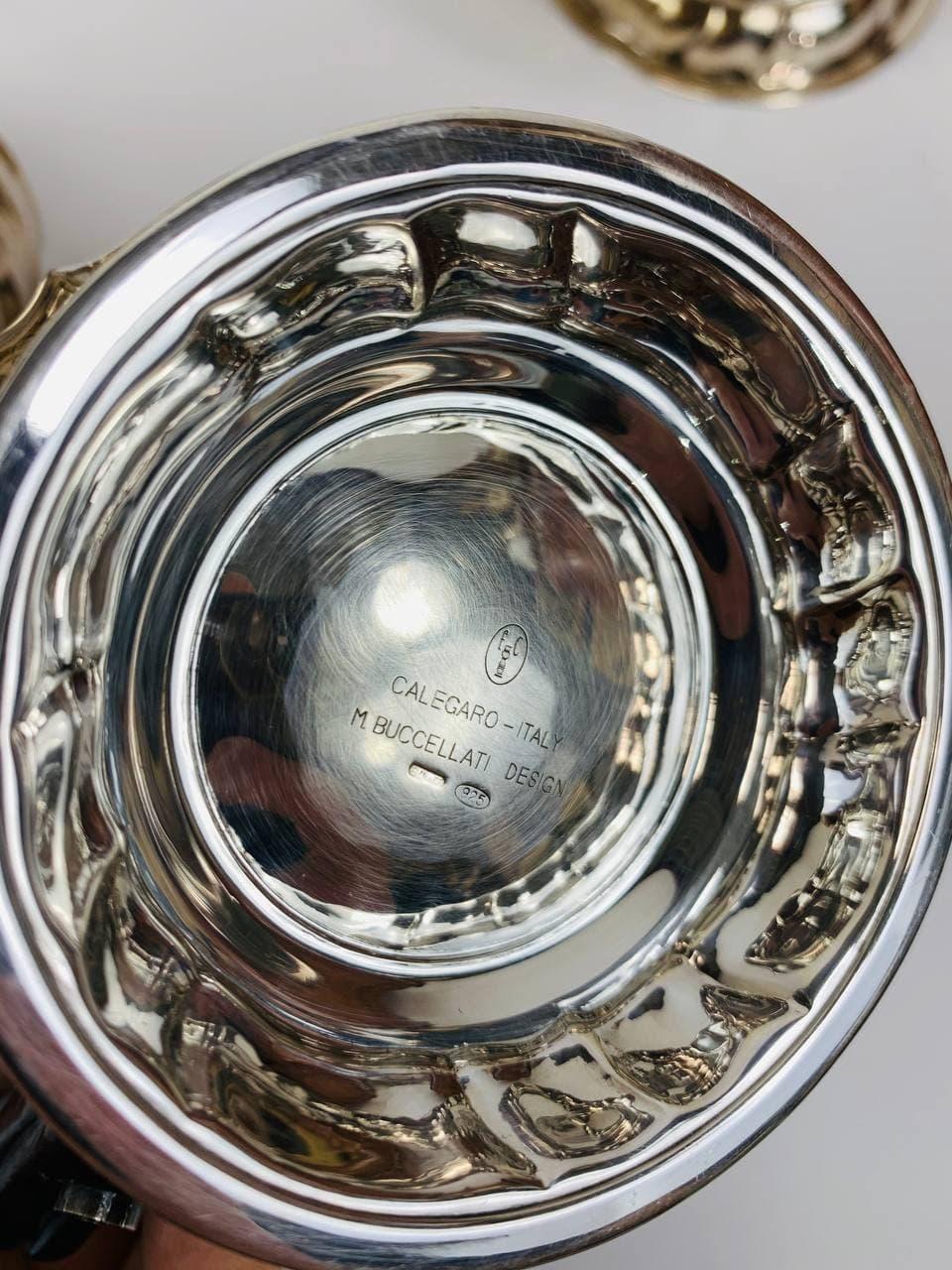 Винтажный чайный сервиз из серебра марки BUCCELLATI