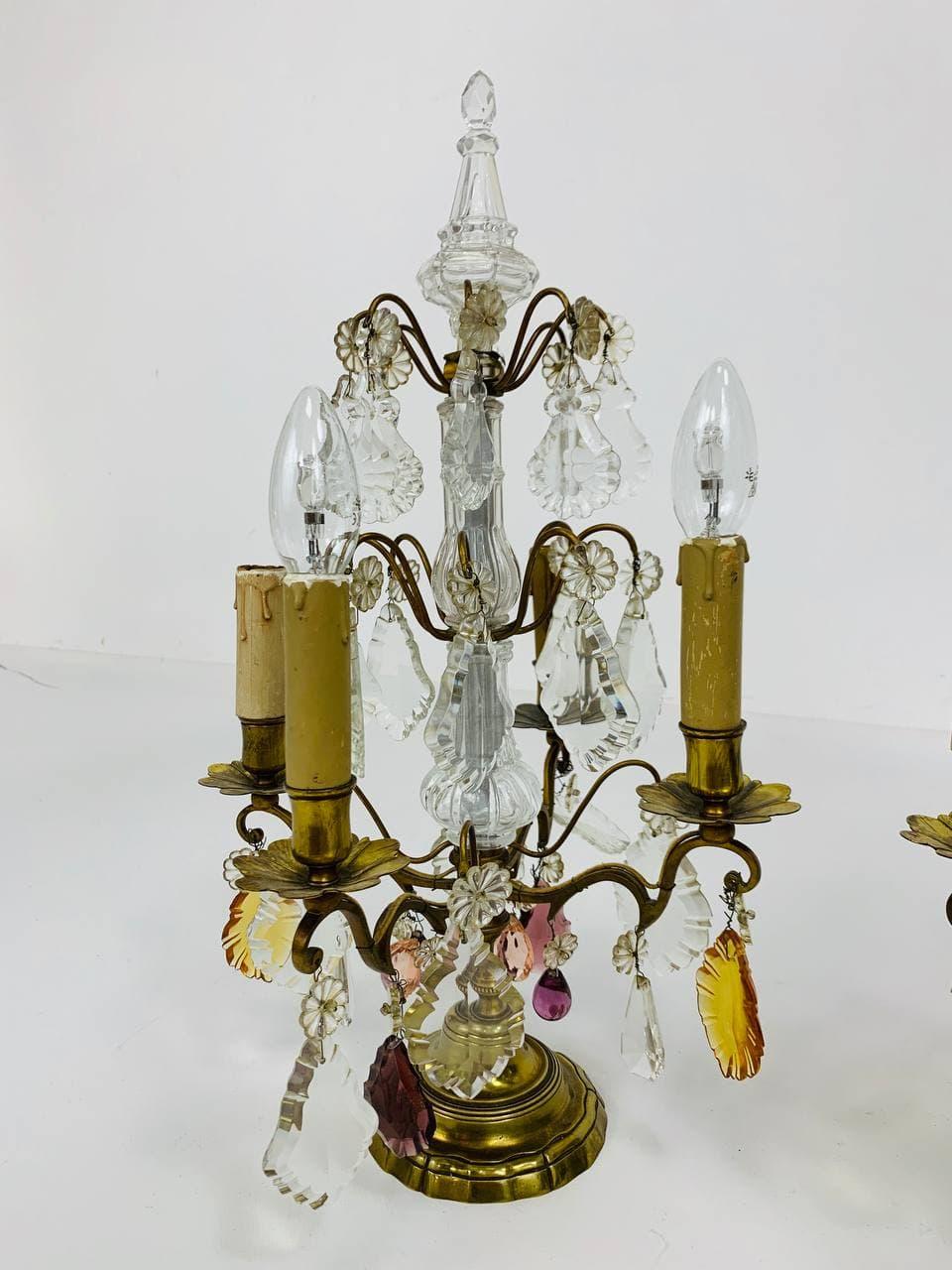 Антикварные светильники с хрусталём