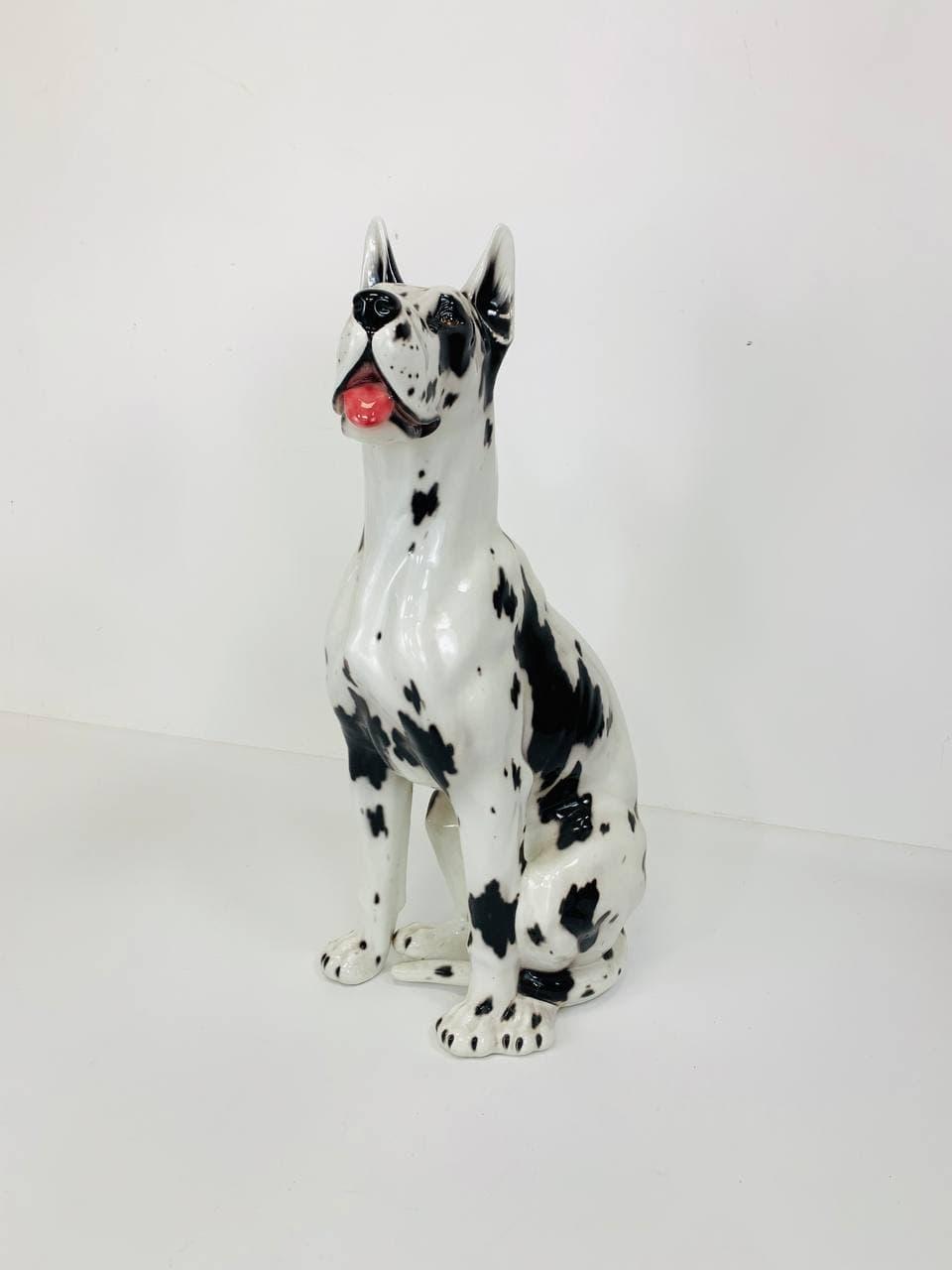 Винтажная фарфоровая собака