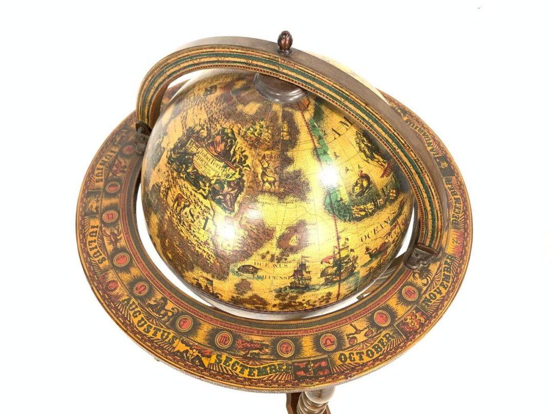 Винтажный бар-глобус
