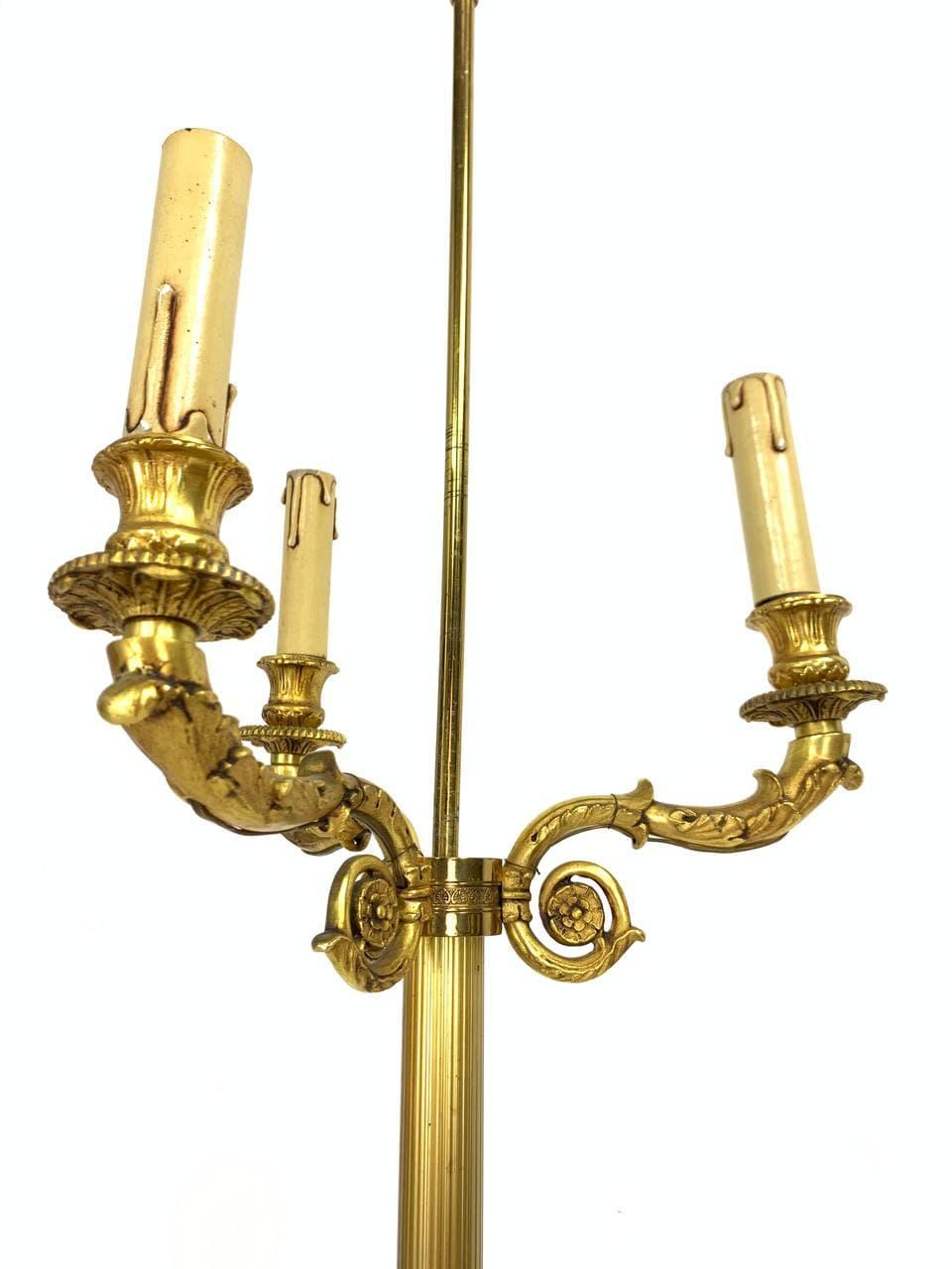 Винтажная напольная лампа из бронзы