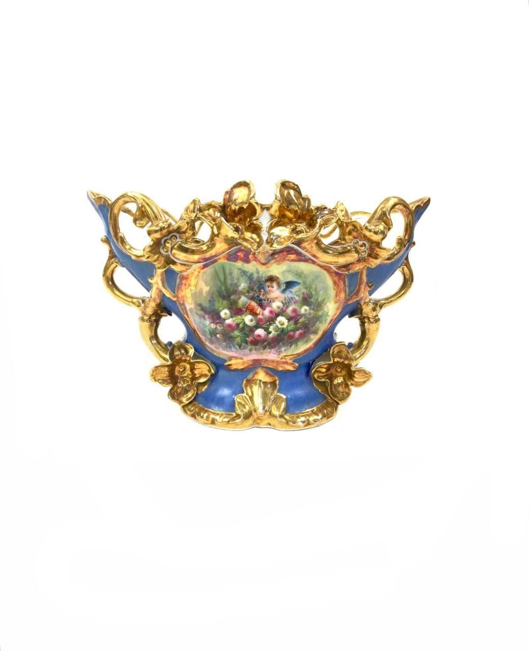 Антикварная ваза ручной росписи Vieux Paris