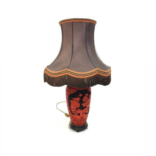 Винтажная лампа в стиле Шинуазри