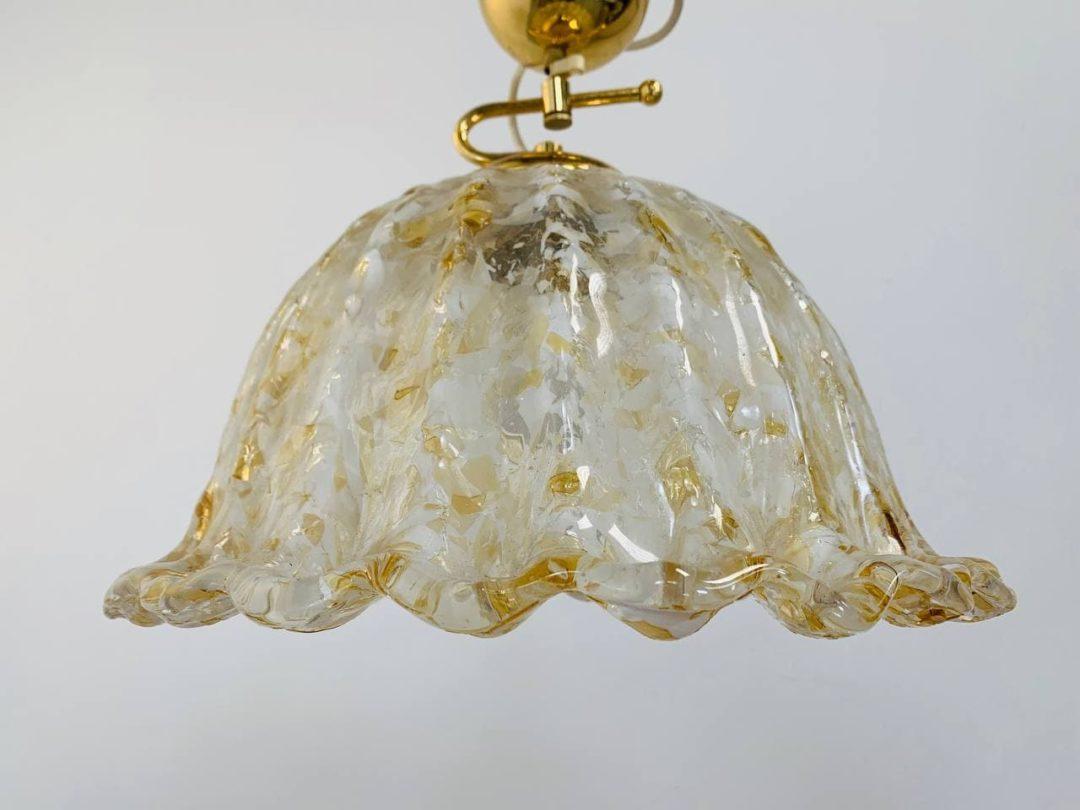 Винтажная потолочная люстра  из стекла Мурано