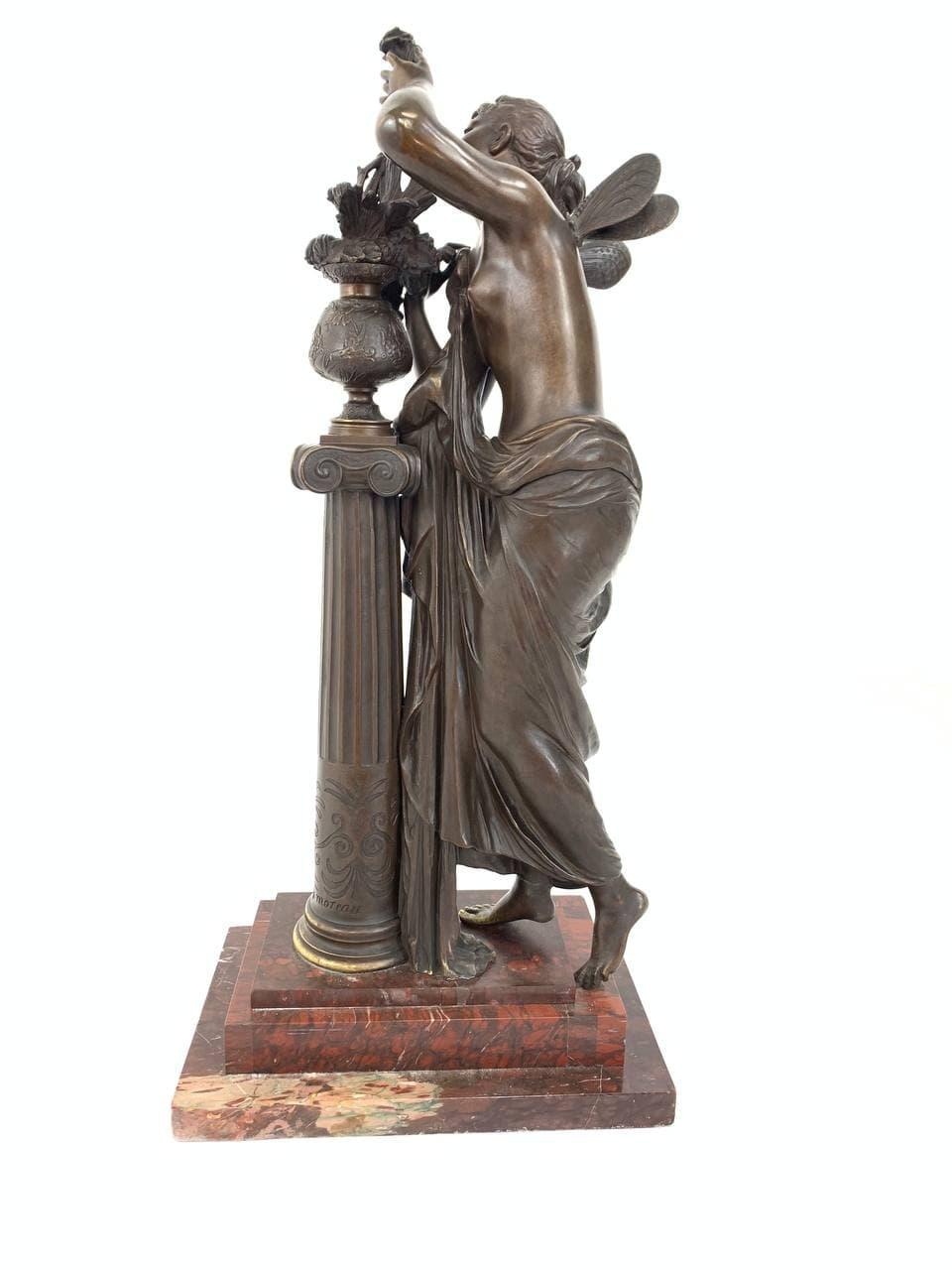 Антикварная бронзовая скульптура «Аврора»
