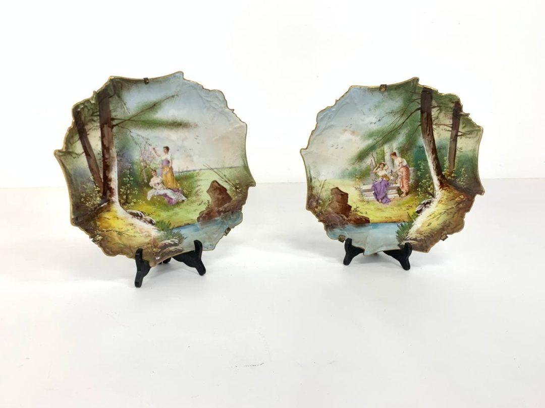 Антикварные декоративные тарелки