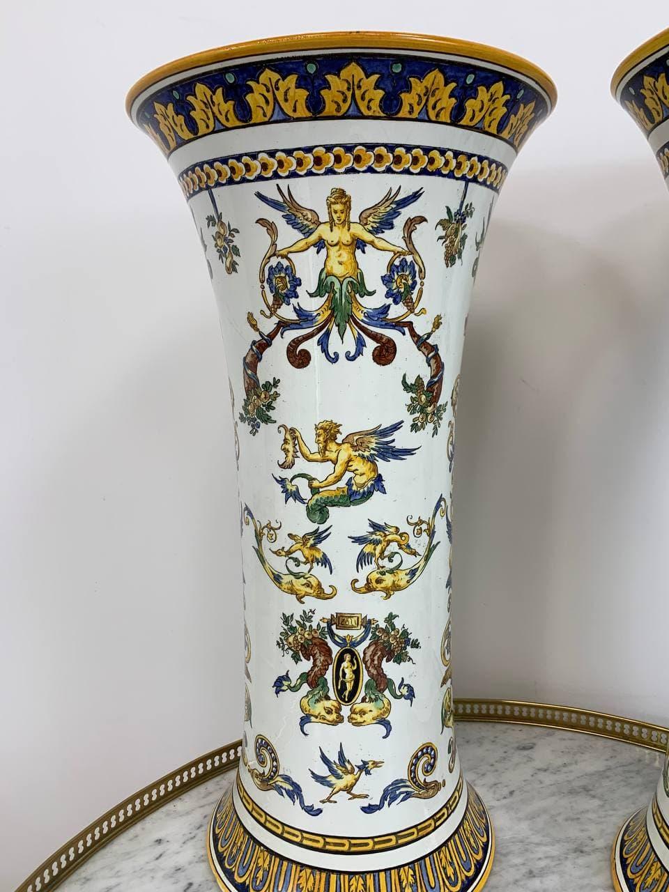 Антикварная пара ваз мануфактуры Gien