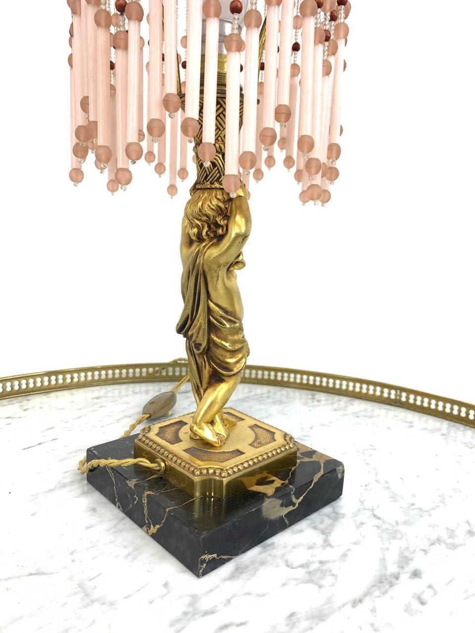 Антикварная настольная лампа