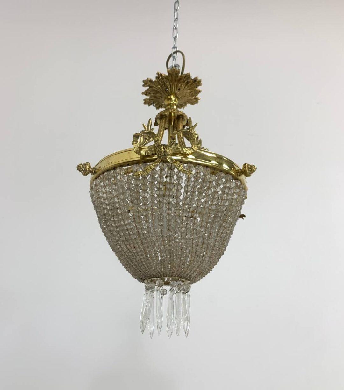 Антикварная люстра в стиле Людовика XVI