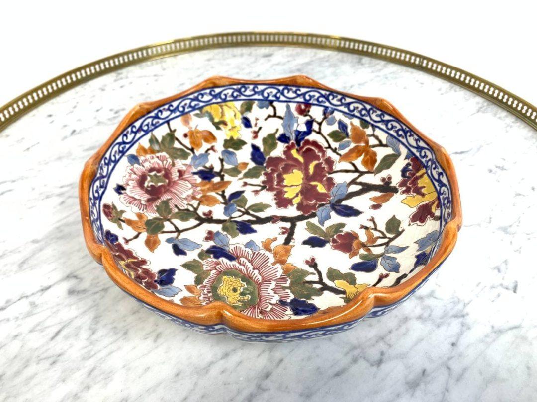 Антикварное блюдо «Melonniere» PIVOINES мануфактуры Gien