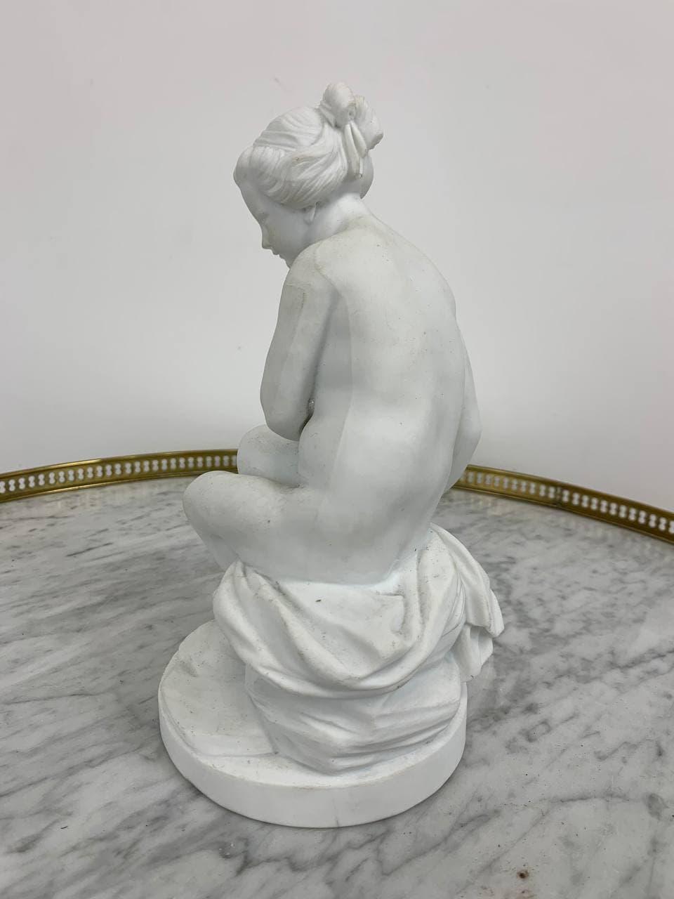 Винтажная статуэтка из бисквита «Обнаженная Психея»