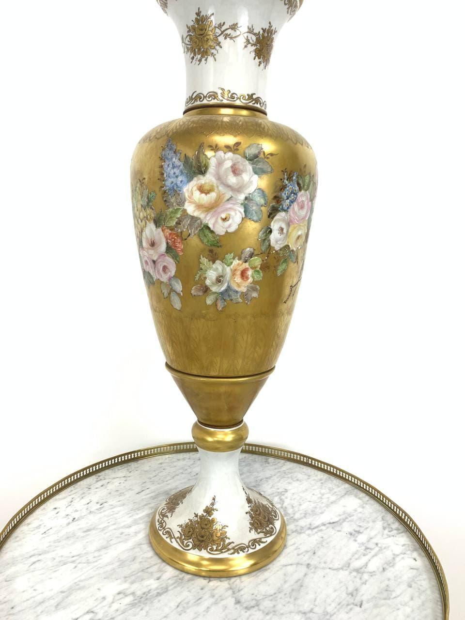 Антикварная расписная ваза