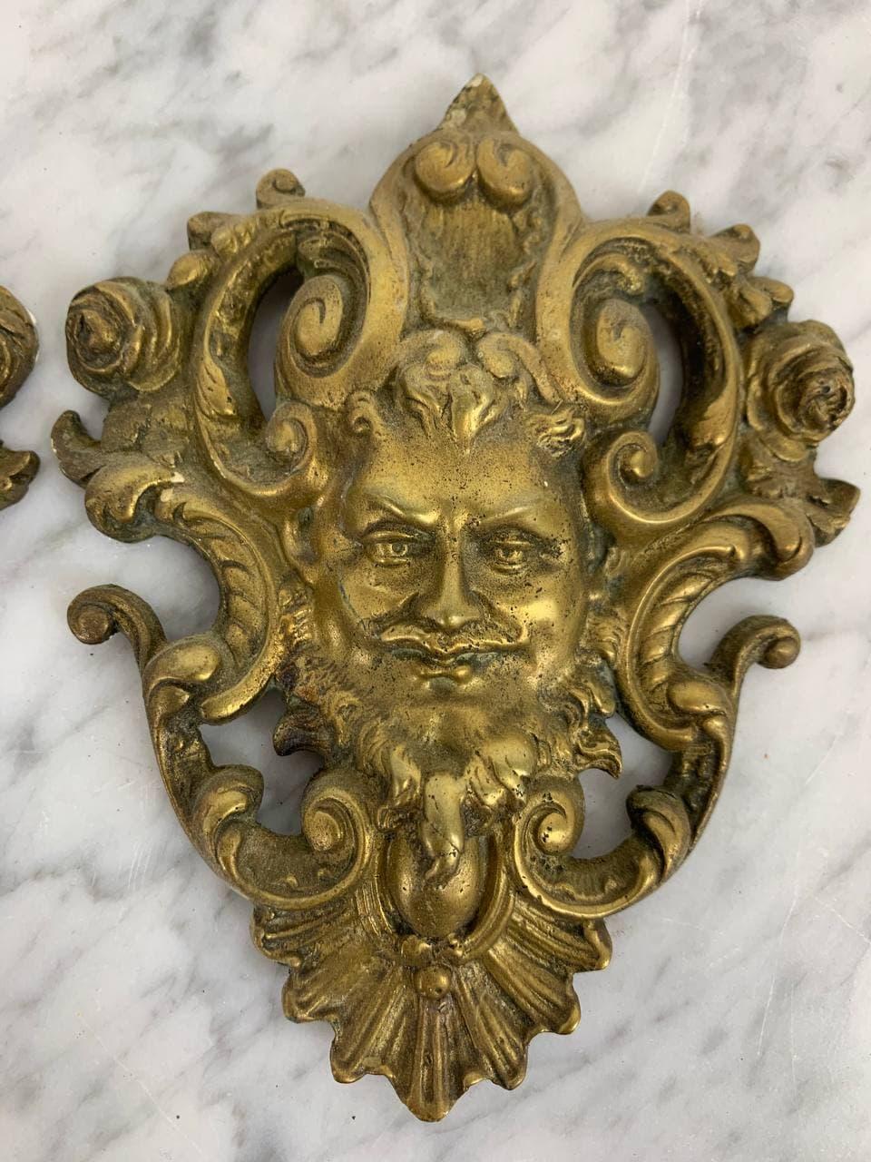 Антикварные бронзовые накладки