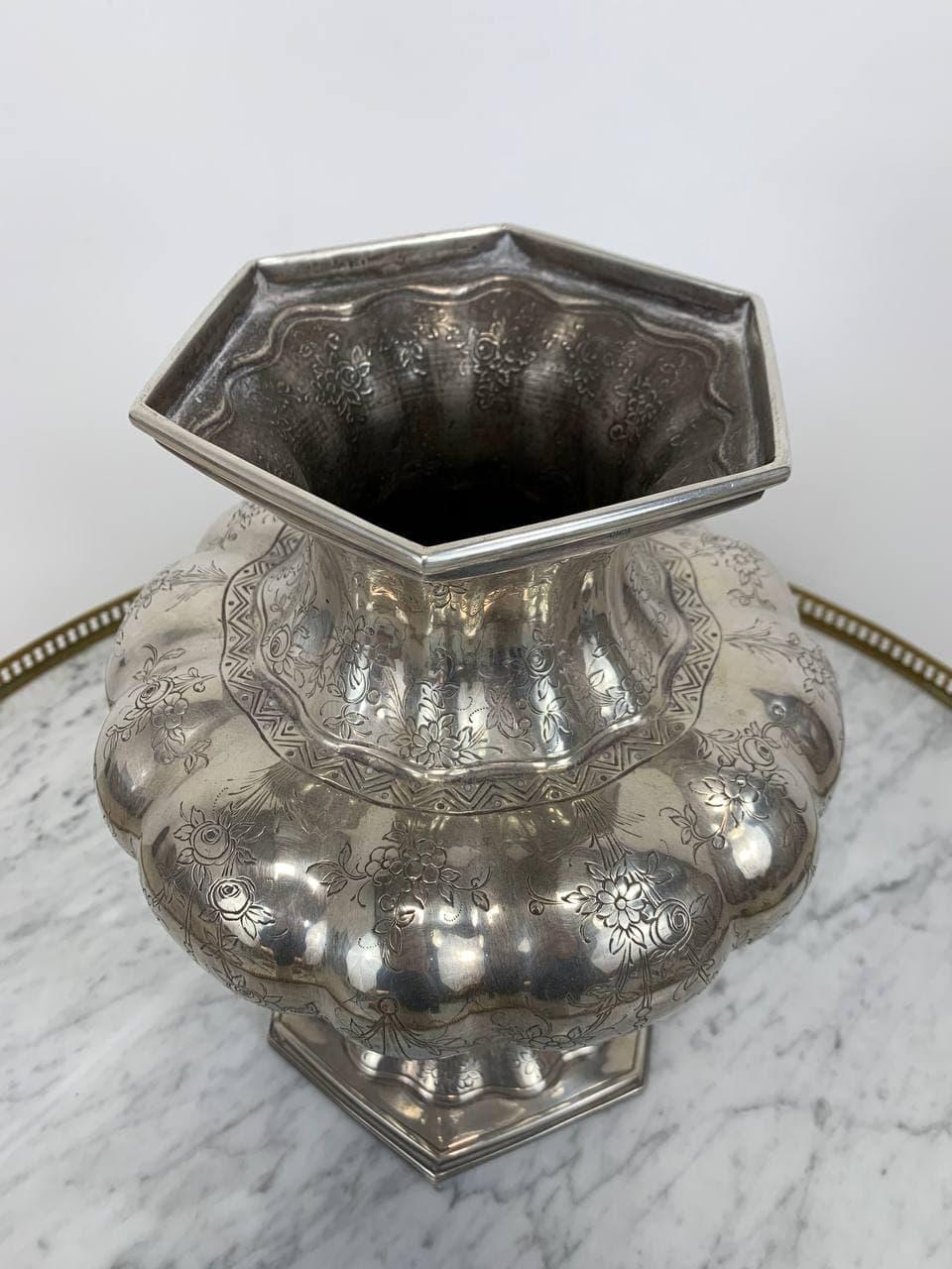 Винтажная серебряная ваза