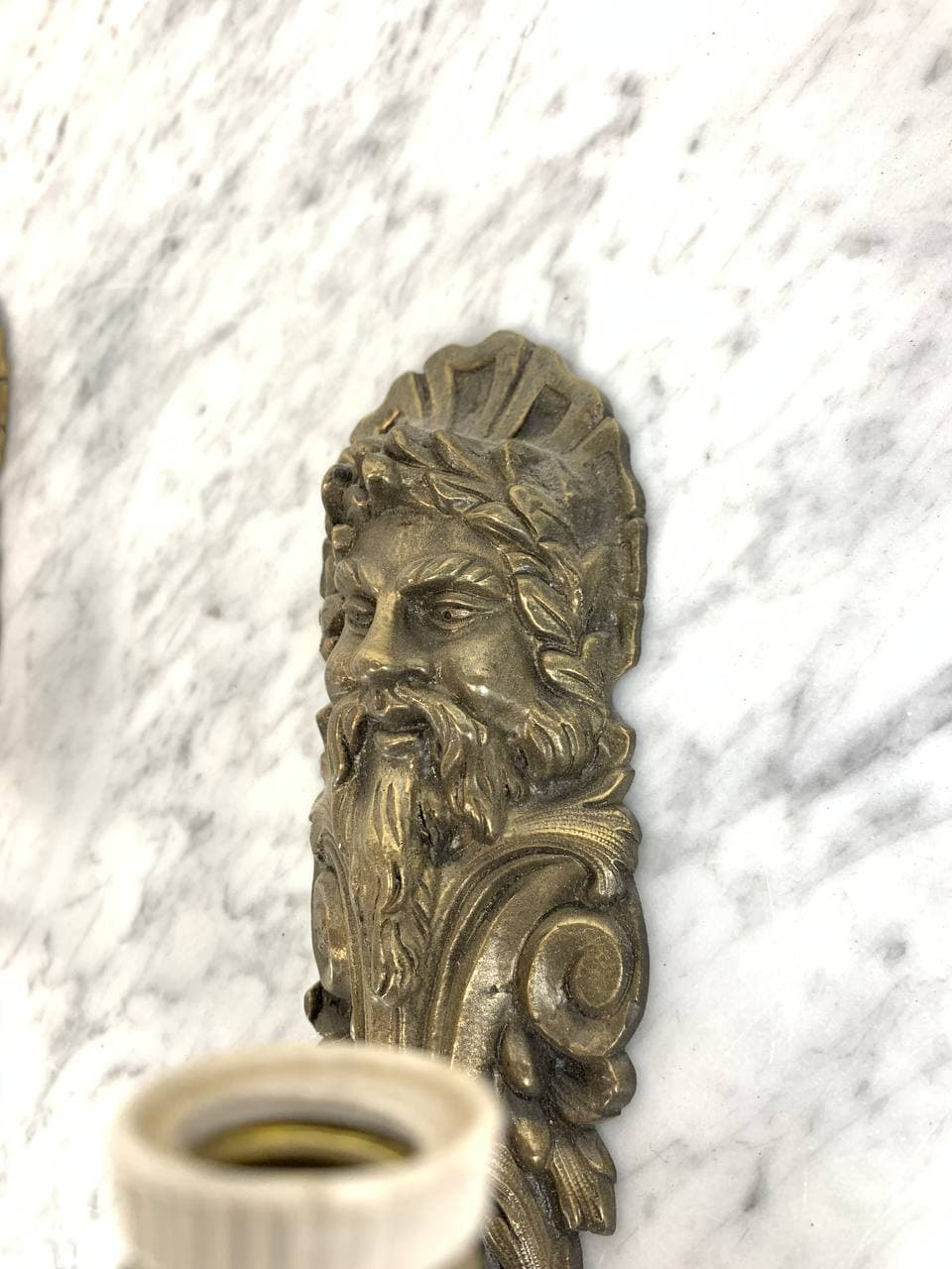 Антикварная пара бра из бронзы