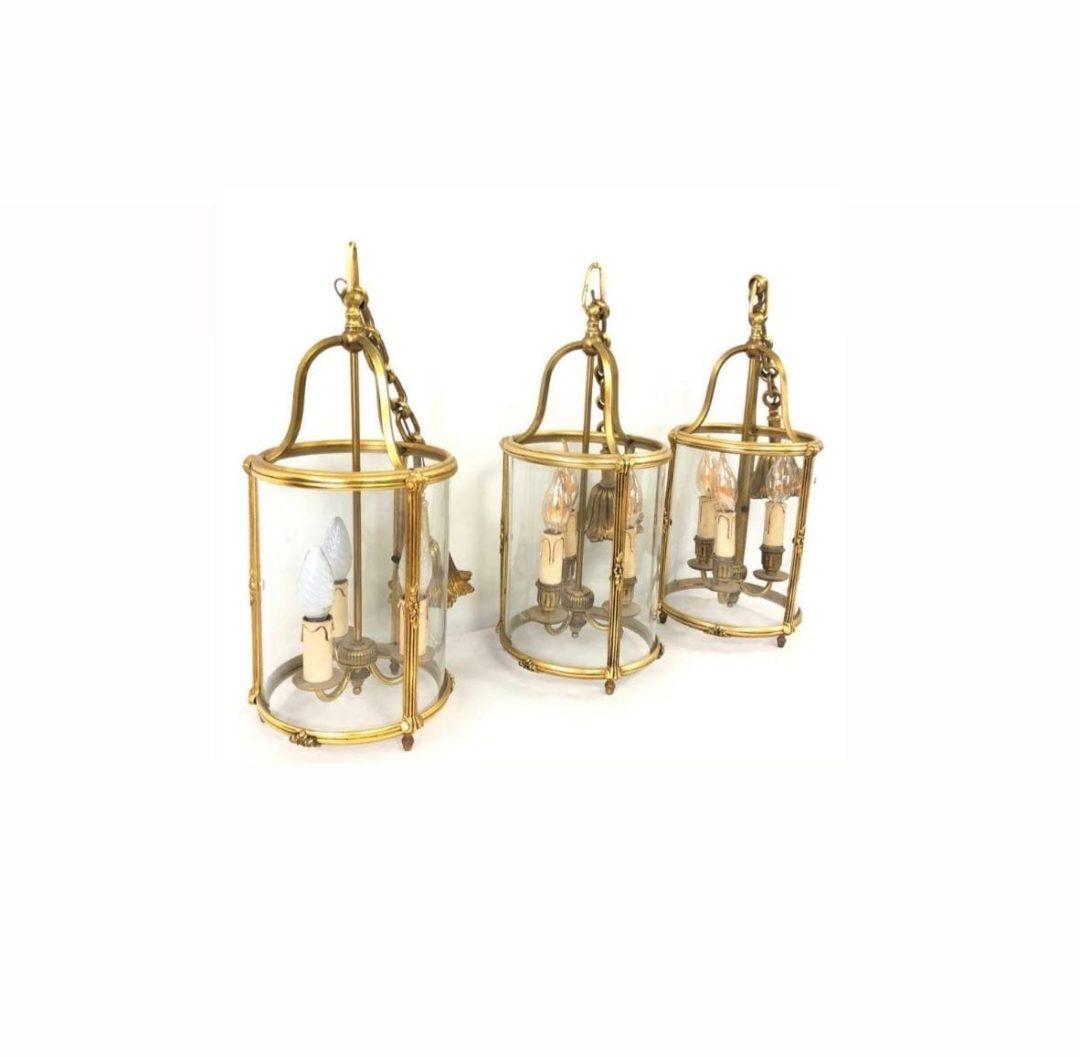 Винтажные бронзовые фонари