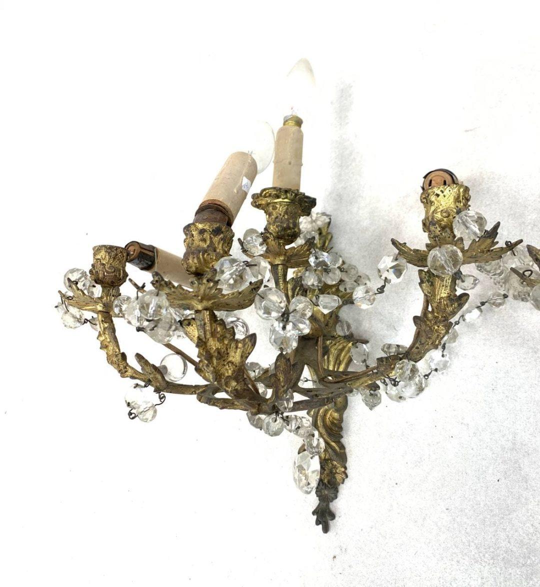 Антикварные бронзовые бра