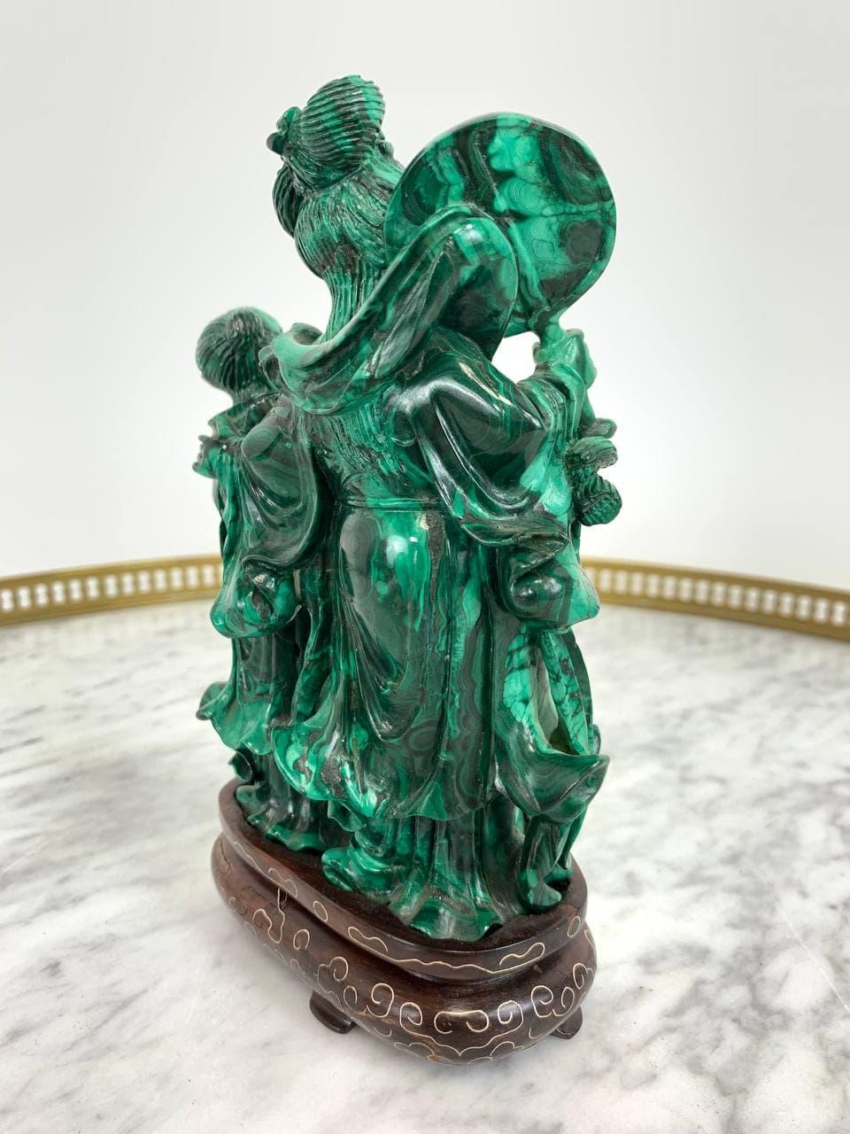 Антикварная статуэтка в стиле Шинуазри