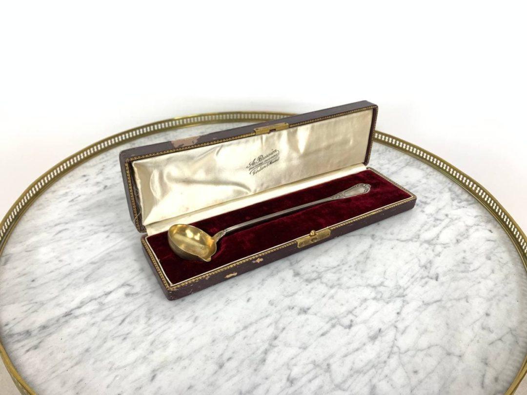 Антикварный черпак для пунша из серебра