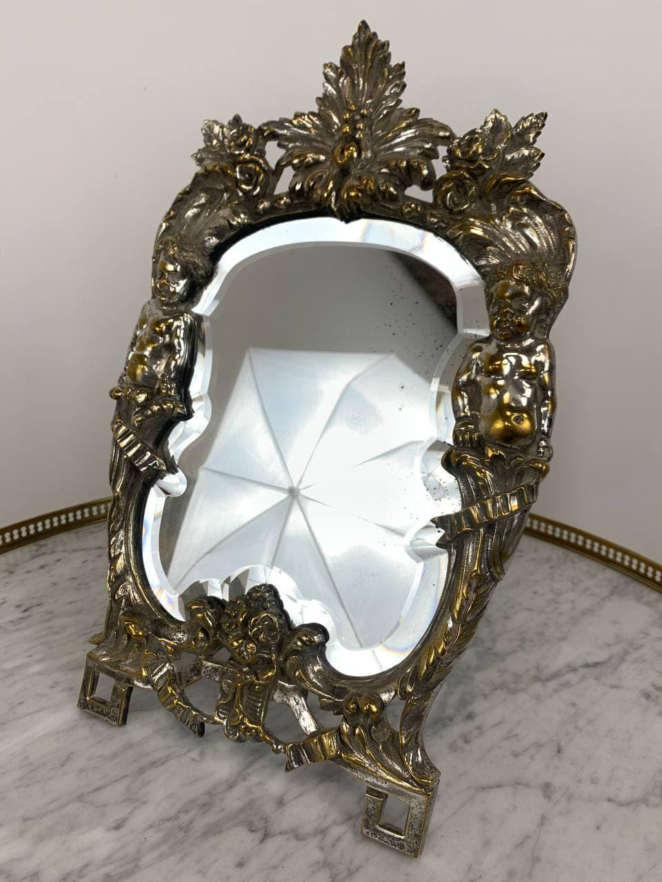 Антикварное зеркало из бронзы