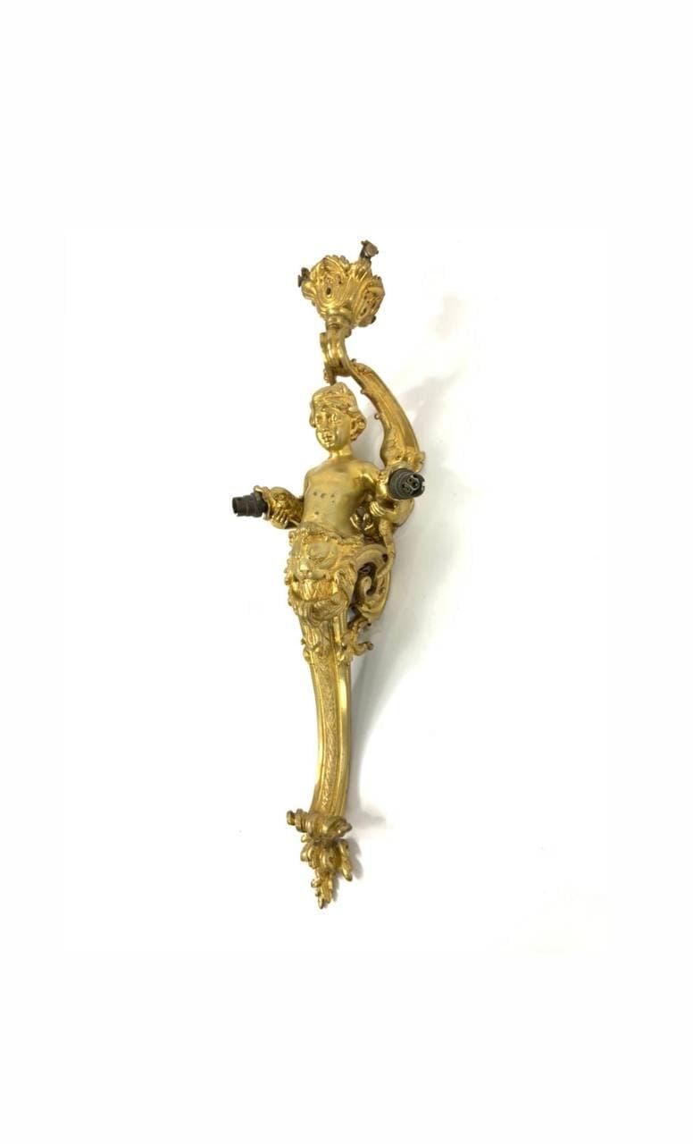 Антикварное бронзовое бра