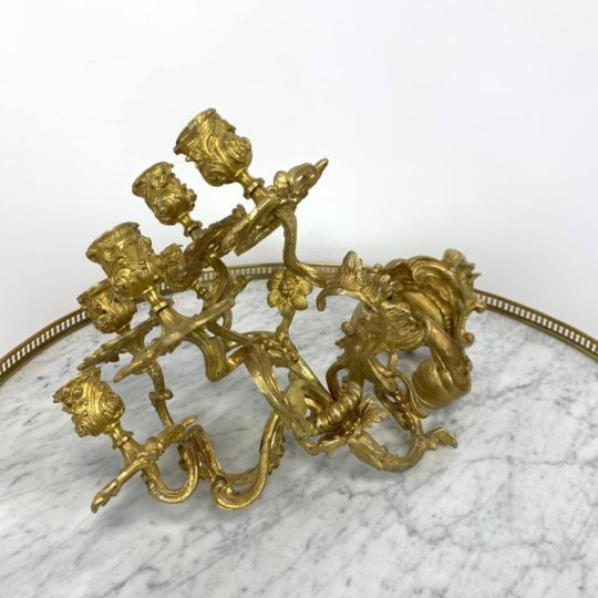 Антикварное бронзовое бра – подсвечники