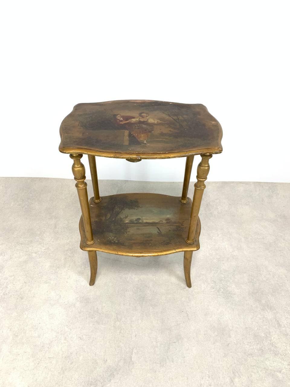 Антикварный расписной столик в стиле Vernis Martin
