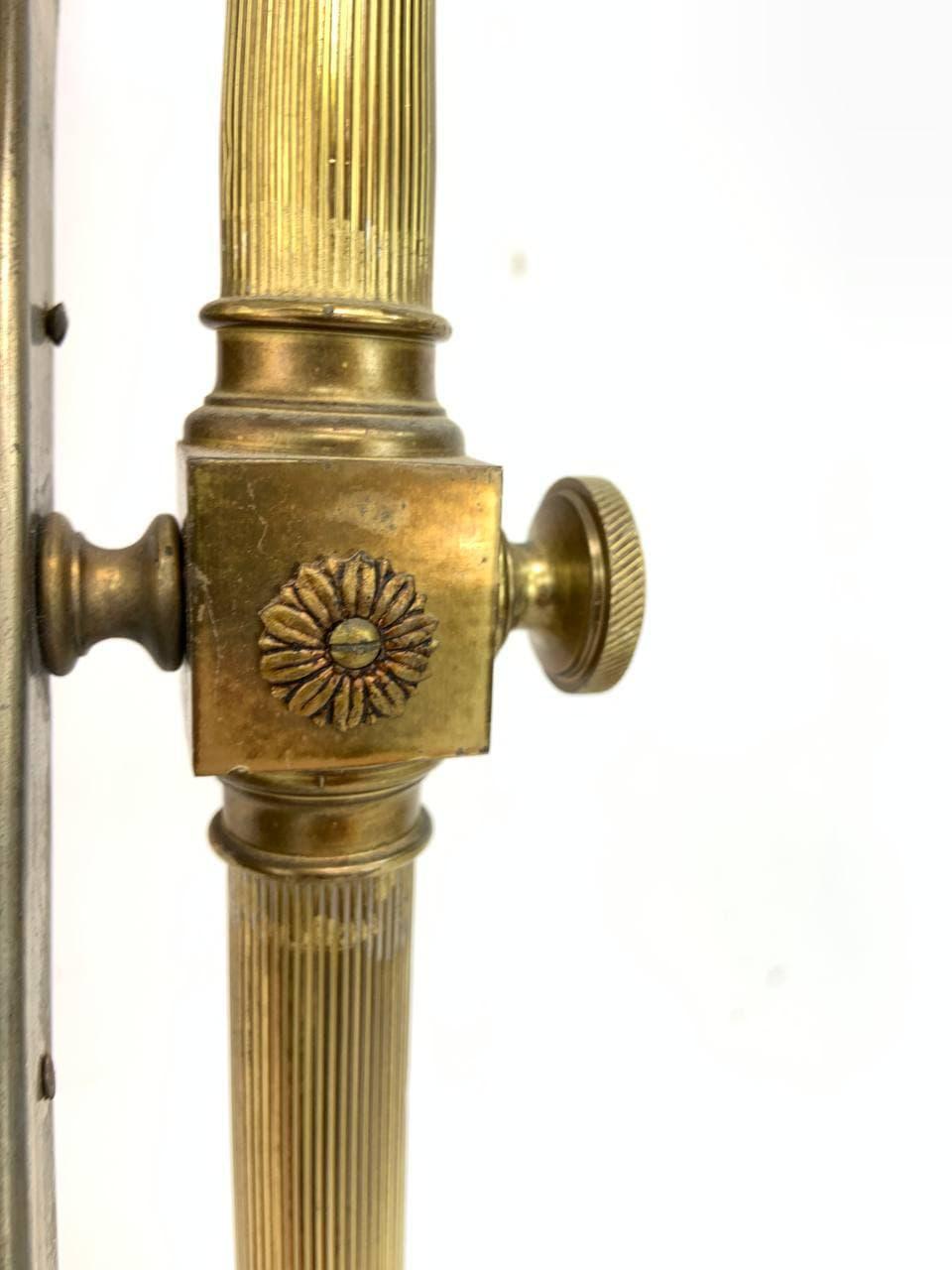Винтажное напольное зеркало из бронзы