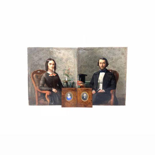 Антикварные портреты и миниатюры середины XIX века