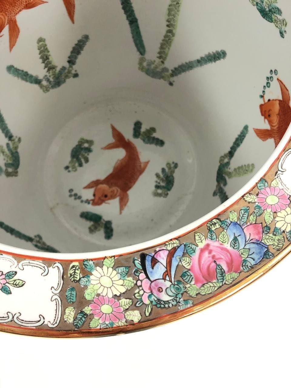 Винтажный китайский аквариум на подставке